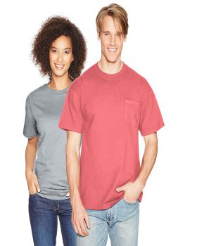Hanes 5190 Beefy-T - Cotton T-Shirt with Pocket