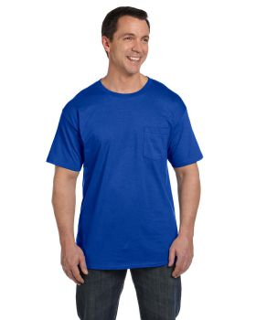 'Hanes 5190P Adult Beefy with Pocket T-Shirt'