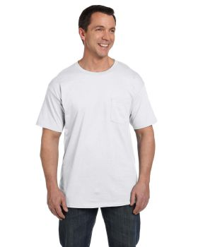 Hanes 5190P Adult Beefy with Pocket T-Shirt