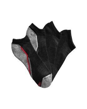 Hanes 532/4 Men's X-Temp Arch Support Ventilation No-Show Socks 4-Pack