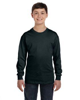 Hanes 5546 Tagless Youth Long Sleeve T-Shirt