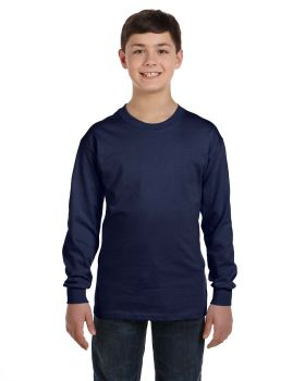 Hanes 5546 Tagless Youth Long Sleeve T-Shirt