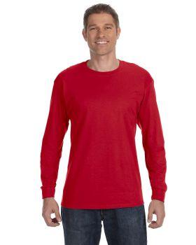 Hanes 5586 Tagless Cotton Long Sleeve T-Shirt