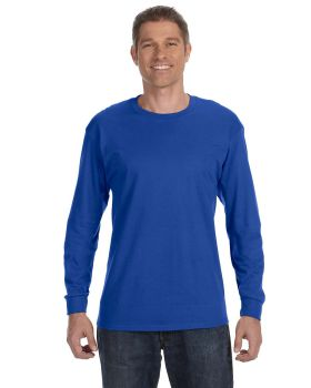 Hanes 5586 Tagless Cotton Long Sleeve T-Shirt