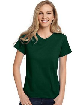 Hanes 5780 Ladies Tagless V Neck T-Shirt