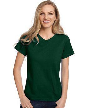 Hanes 5780 Ladies Tagless V Neck T-Shirt