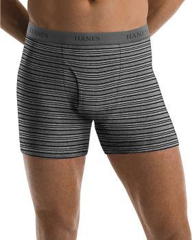Hanes 76925S Men's TAGLESS Ultimate Fashion Stripe Boxer Briefs with Com ...