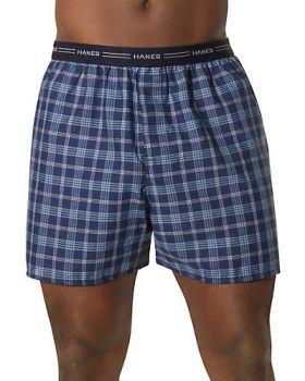 Hanes 841BX5B Big Men's Yarn-Dyed Plaid Boxer 5 Pack