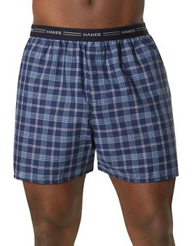 Hanes 841VTY Men's Red Label Exposed Elastic Waistband Boxer P2