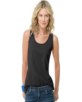 'Hanes 9002 Live Love Color Scoop Neck Cotton Tank Top'