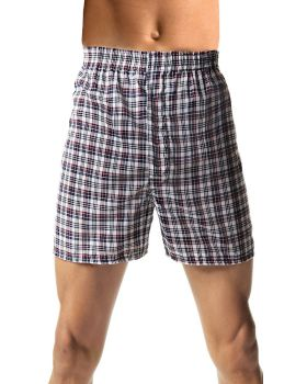 Hanes HN155W Men's Tagless Woven Boxers With Comfort Flex Waistband 3 Pa ...