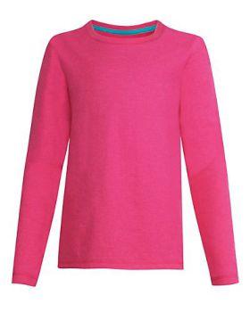 Hanes K123 Girl's Long-Sleeve Crewneck T-Shirt