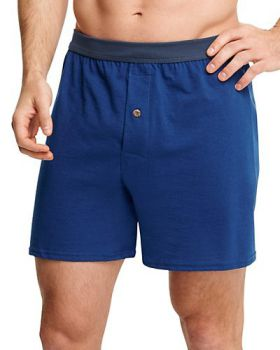 Hanes MKCBX5B Men's Tagless Comfortsoft Knit Boxers With Comfortsoft Wai ...