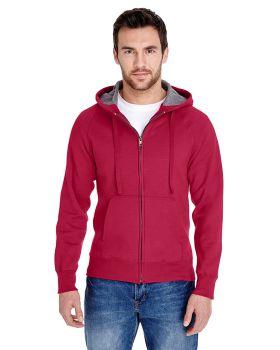Hanes N280 Adult Nano Full Zip Cotton Polyester Hood