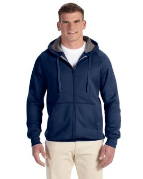Hanes N280 Adult Nano Full Zip Cotton Polyester Hood