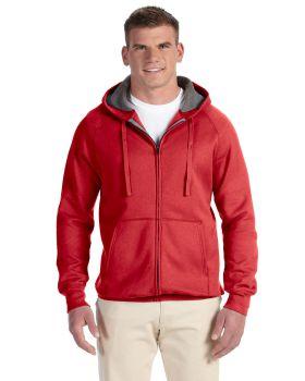 'Hanes N280 Adult Nano Full Zip Cotton Polyester Hood'