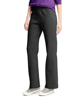 Hanes O4634 ComfortSoft EcoSmart Women's Petite Open Leg Sweatpants