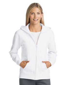 Hanes O4637 ComfortSoft EcoSmart Women's Full Zip Hoodie Sweatshirt