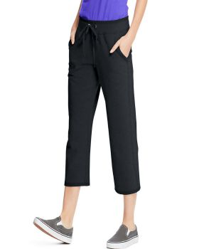 Hanes O4679 Women's French Terry Pocket Capri
