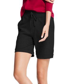 Hanes O4681 Women's French Terry Bermuda Pocket Short