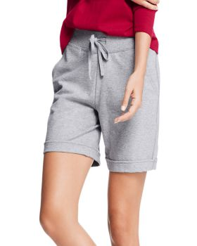 Hanes O4681 Women's French Terry Bermuda Pocket Short