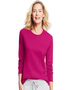 Hanes O9133 Women's Long Sleeve Crewneck T-Shirt