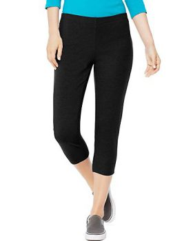 Hanes O9293 Women's Stretch Jersey Capri