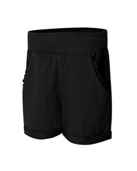Hanes OK263 Girls' Ruffle Pocket Short
