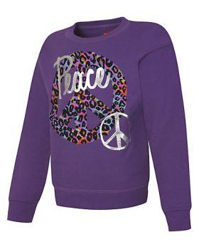 Hanes OK268 ComfortSoft EcoSmart Girls' Crewneck Sweatshirt