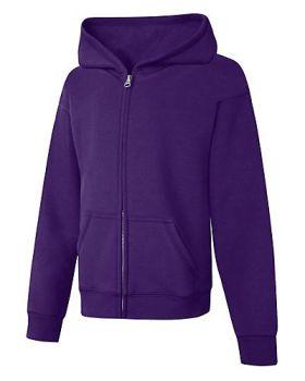 Hanes OK270 ComfortSoft EcoSmart GirlsFull Zip Hoodie Sweatshirt