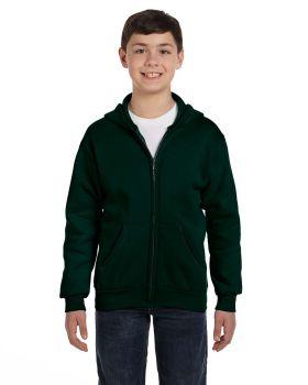 Hanes P480 Comfortblend EcoSmart Full Zip Kids 7.8 oz Hoodie Sweatshirt