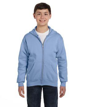 'Hanes P480 Comfortblend EcoSmart Full Zip Kids 7.8 oz Hoodie Sweatshirt'