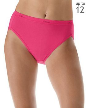 Hanes P543WB Women's Plus Cotton Hi-Cut Panties 5-Pack