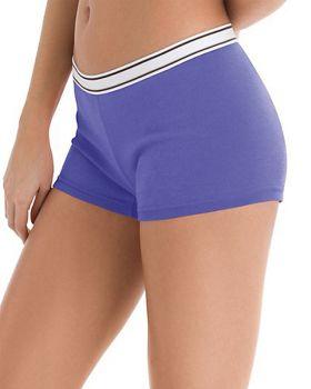 Hanes P649SC Women's Cotton Boy Brief 6 Pack Panties