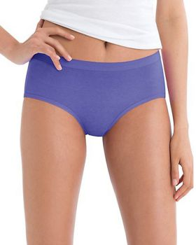 Hanes PP38AS Women's No Ride Up Low Rise Cotton Brief 6-Pack