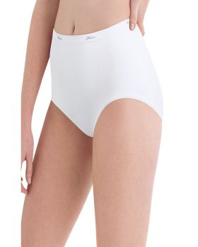 Hanes PW40WH Women's Cotton White Brief 10-Pack