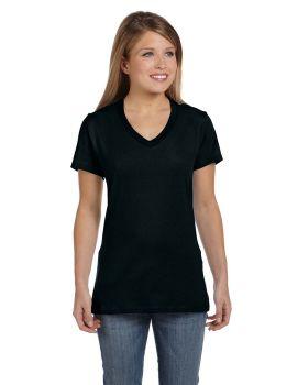 Hanes S04V Ladies Nano Ringspun Cotton Tee V Neck T-Shirt
