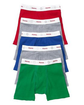 'Hanes TB74P5 Toddler Boys' Boxer Briefs with Comfort Flex Waistband 5-Pack'