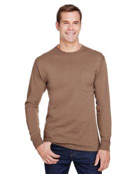 Hanes W120 Adult Workwear Long-Sleeve Pocket T-Shirt