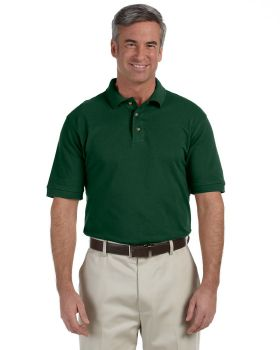 Harriton M200 Men's Ringspun Cotton Piqué Short-Sleeve Polo