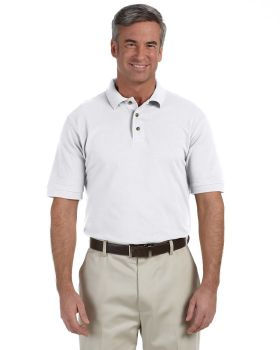 Harriton M200 Men's Ringspun Cotton Piqué Short-Sleeve Polo