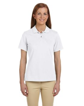 Harriton M200W Ladies' Ringspun Cotton Piqué Short-Sleeve Polo