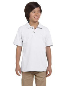 Harriton M200Y Youth Ringspun Cotton Piqué Short-Sleeve Polo