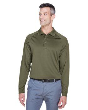Harriton M211L Men's Tactical Long-Sleeve Performance Polo