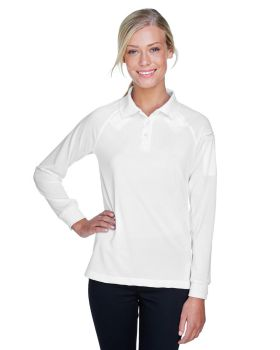 Harriton M211LW Ladies' Tactical Long-Sleeve Performance Polo