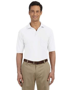 Harriton M265P Men's Easy Blend Polo with Pocket