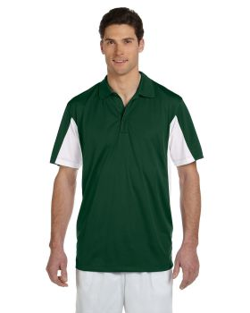 Harriton M355 Men's Side Blocked Micro-Piqué Polo