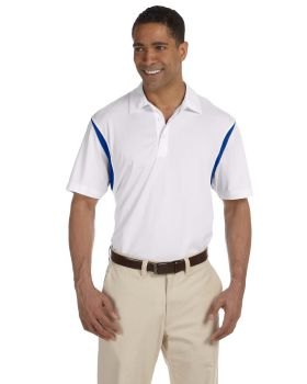 Harriton M356 Men Back Blocked Micro-Piqué Polo