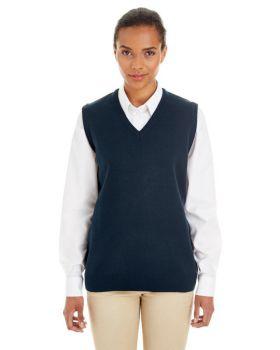 Harriton M415W Ladies' Pilbloc V-Neck Sweater Vest