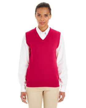 Harriton M415W Ladies' Pilbloc V-Neck Sweater Vest